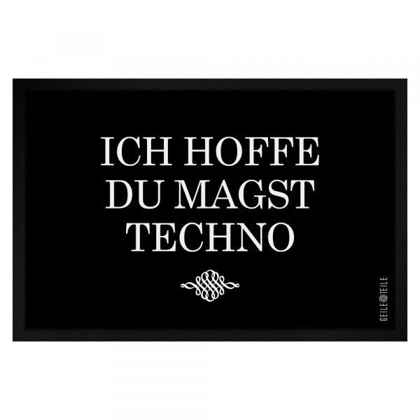 Ich hoffe du magst Techno Fussmatte 60 x 40 cm