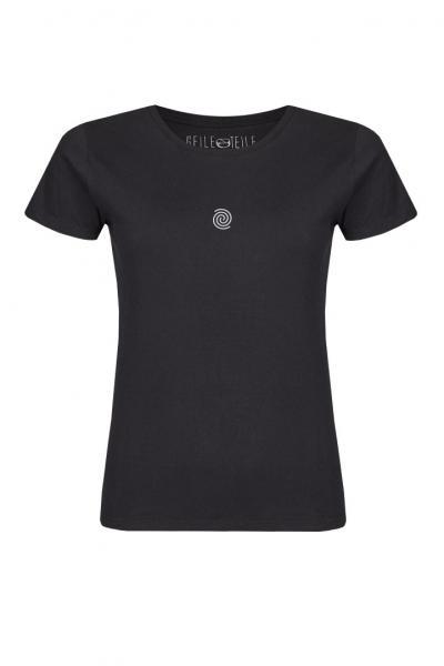 Don't follow me Damen T-Shirt mit Rundhalsschnitt
