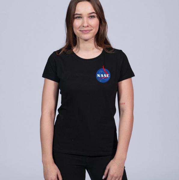 Nase Damen T-Shirt mit Rundhalsschnitt