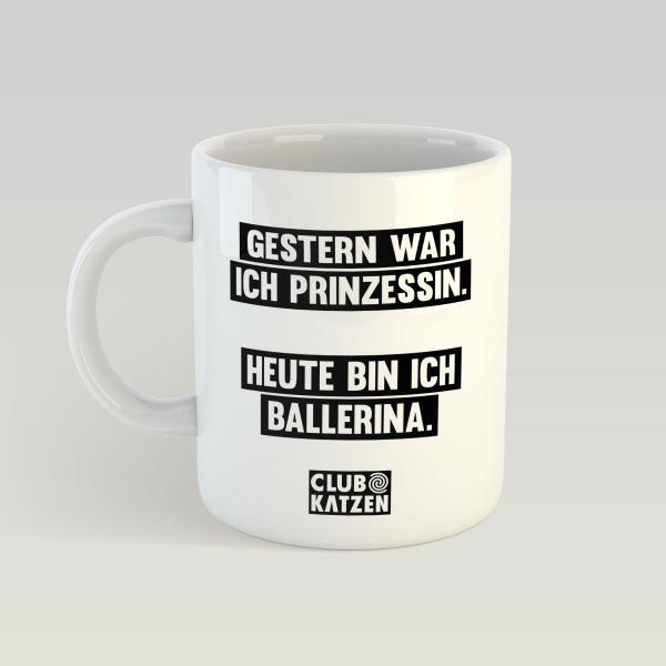 Prinzessin Ballerina Weiße Tasse