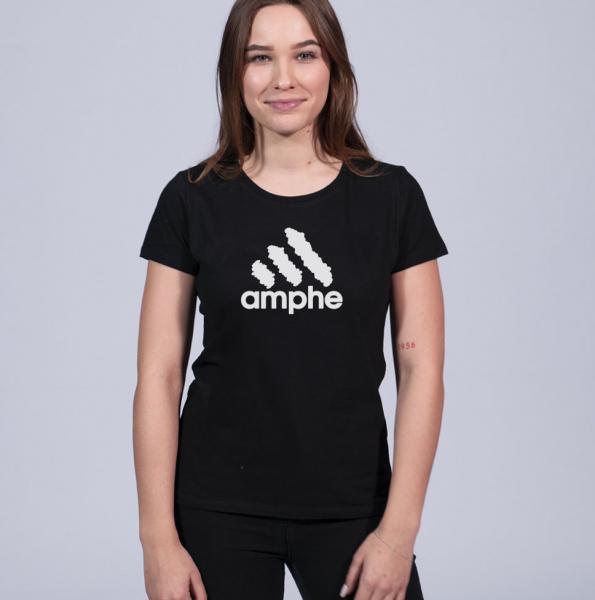 Amphe Damen T-Shirt mit Rundhalsschnitt