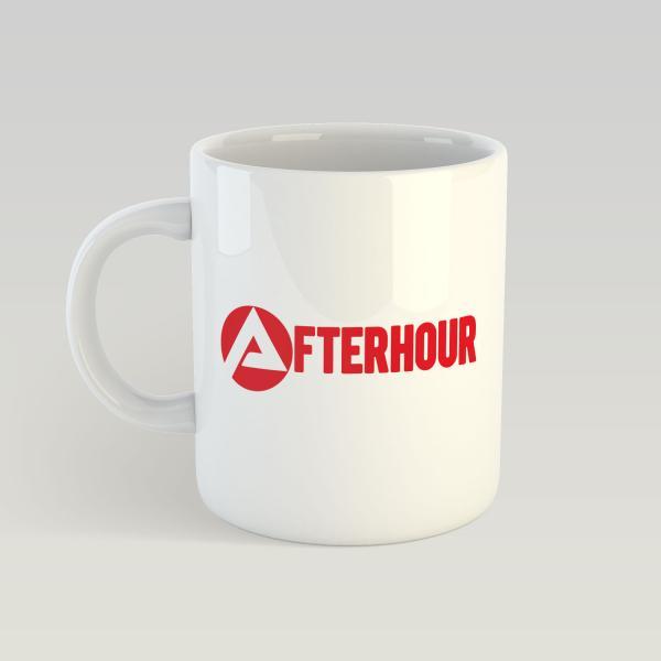 Agentur für Afterhour - Weiße Tasse