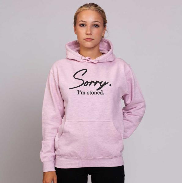 Sorry I'm Stoned - Unisex Pastell Hoodie