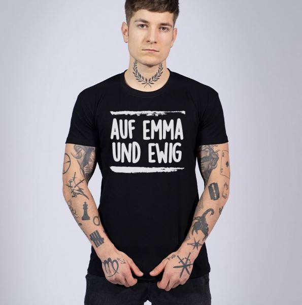 Auf Emma und Ewig Herren T-Shirt mit Rundhalsausschnitt