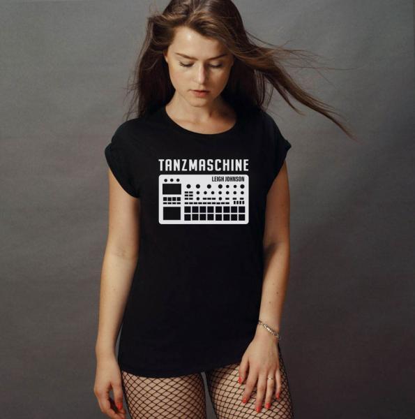 Leigh Johnson Tanzmaschine Damen T-Shirt mit überschnittene Schulter