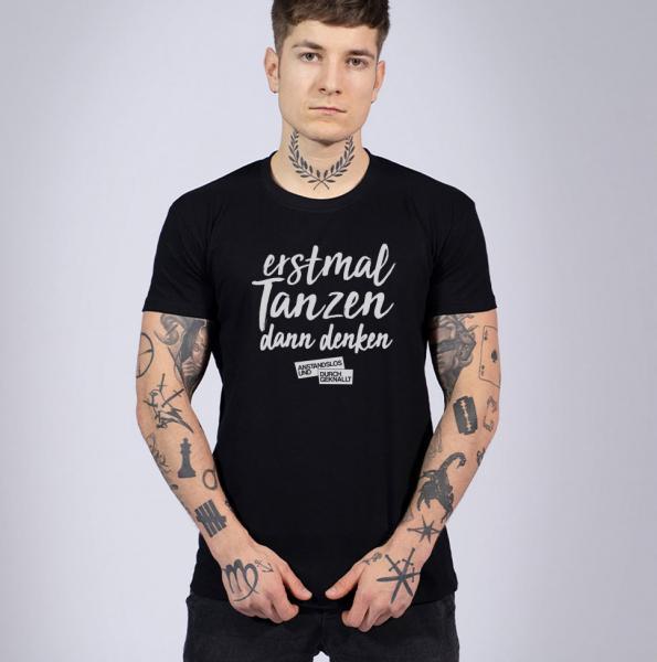 A&D Erstamal Tanzen - Herren T-Shirt mit Rundhalsausschnitt