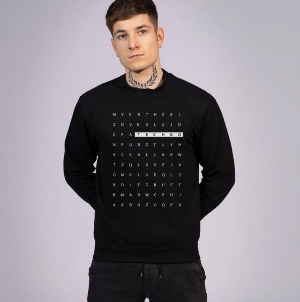 Techno Letter Unisex Sweatshirt