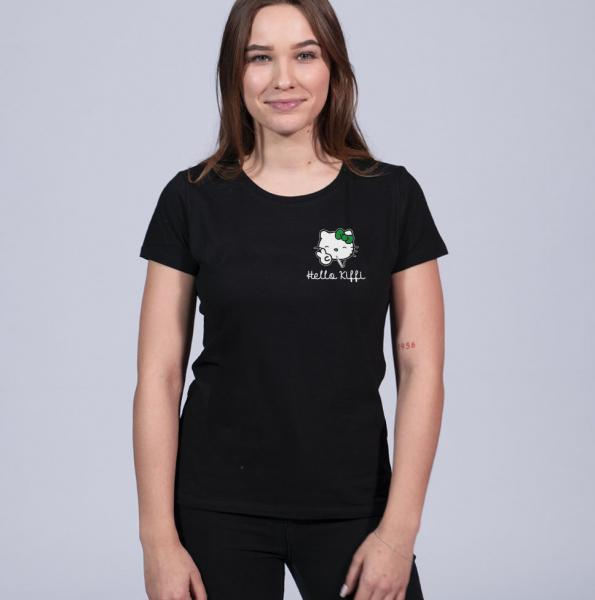 Hello Kiffi Damen T-Shirt mit Rundhalsschnitt