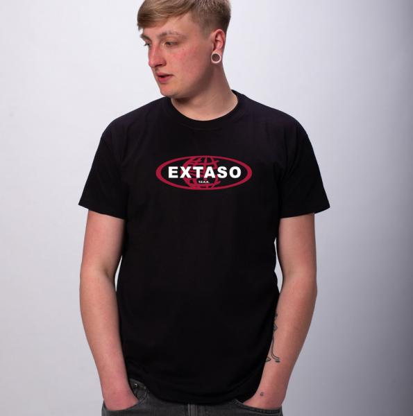 Extaso Herren T-Shirt mit Rundhalsausschnitt
