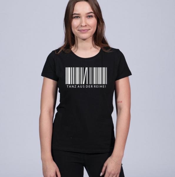 Tanzausderreihe Damen T-Shirt mit Rundhalsschnitt