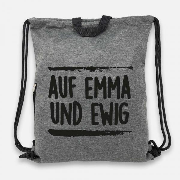 Auf Emma und ewig - Jersey Bag Anthrazit