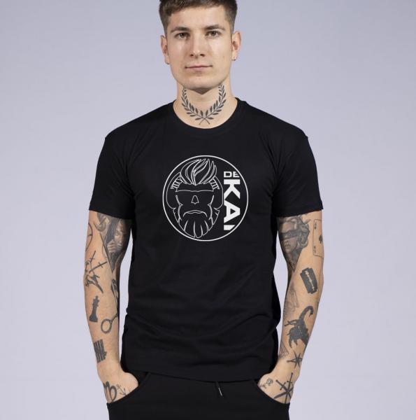 Dekai Logo Herren T-Shirt mit Rundhalsausschnitt