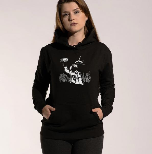 Astronaut - Damen Hoodie mit Kapuze