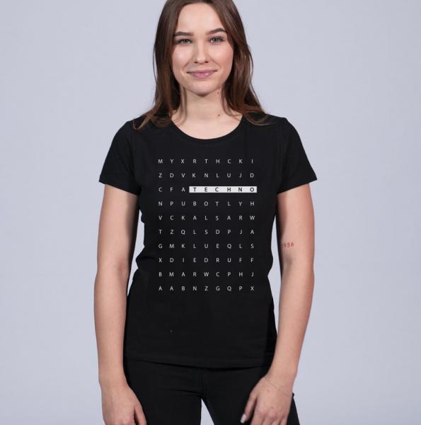 Technoletter Damen T-Shirt mit Rundhalsschnitt