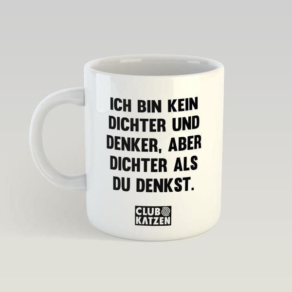 Dichter und Denker - Weiße Tasse