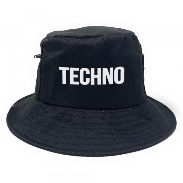 Techno - Premium Fischerhut mit Seitentaschen