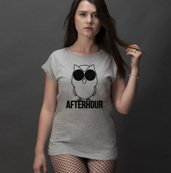 Afterhour Damen T-Shirt mit überschnittene Schulter