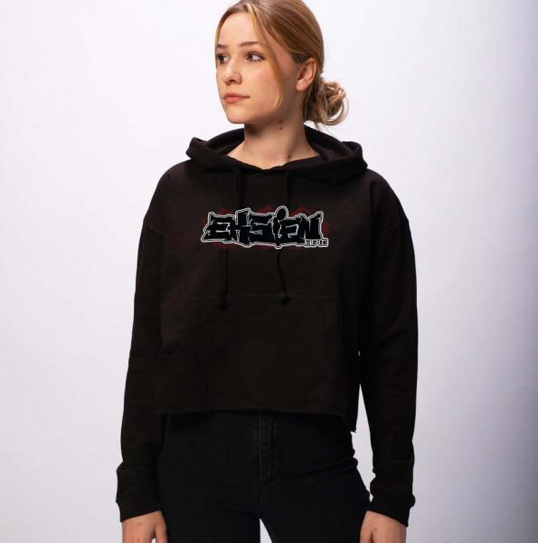 Eksien Logo - Damen Crop Hoodie