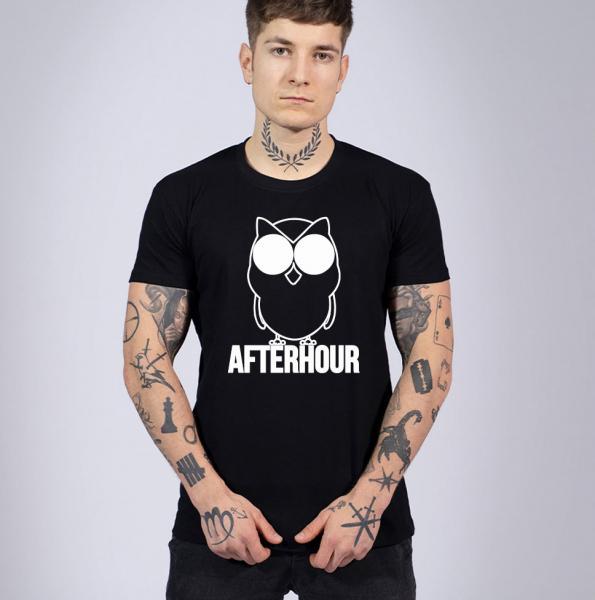 Afterhour Herren T-Shirt mit Rundhalsausschnitt