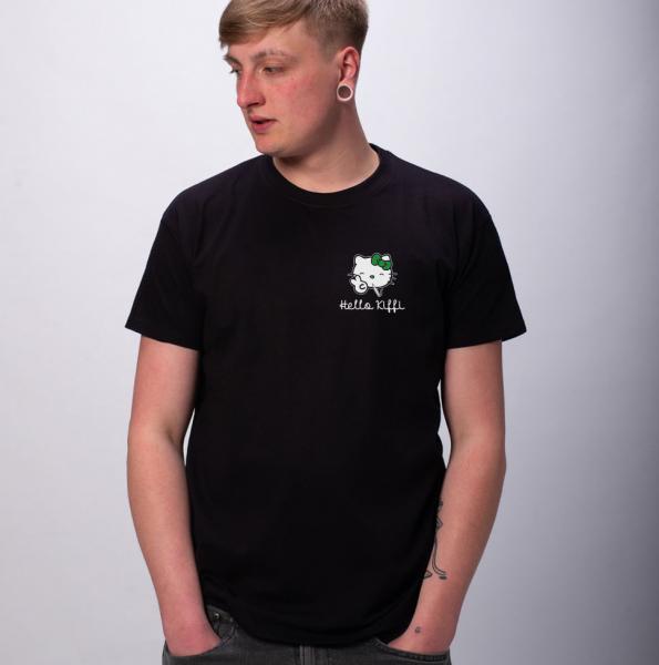 Hello Kiffi Herren T-Shirt mit Rundhalsausschnitt