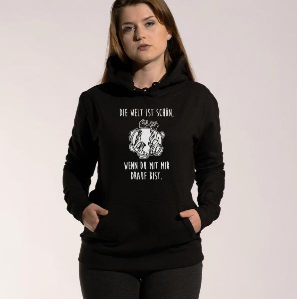 Die Welt - Damen Hoodie mit Kapuze