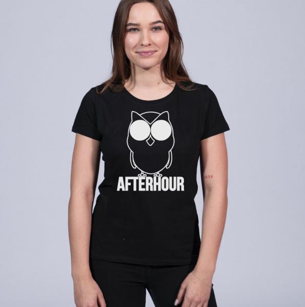 Afterhour Damen T-Shirt mit Rundhalsschnitt