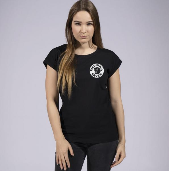 Fjednfall Raven Damen T-Shirt mit überschnittene Schulter
