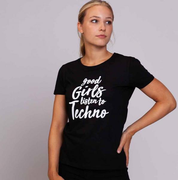 Goodgirls Damen T-Shirt mit Rundhalsschnitt