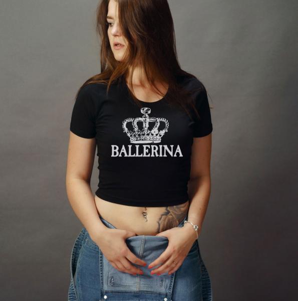 Ballerina Girls Crop Top T-Shirt