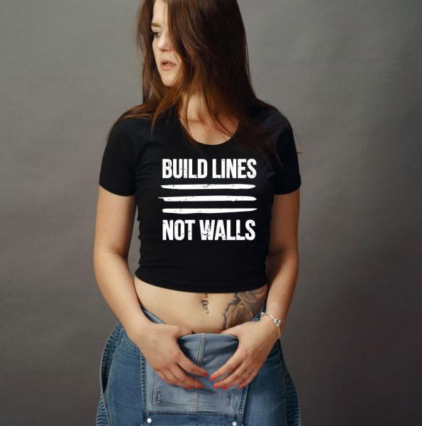 Build Lines Girls Crop Top T-Shirt