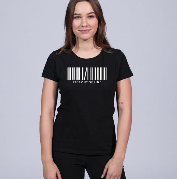 Step Out Of Line Damen T-Shirt mit Rundhalsschnitt