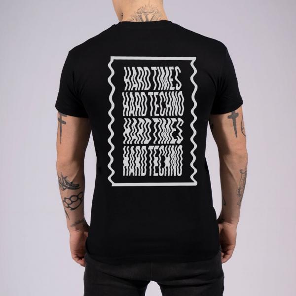 Hard Times Hard Techno Herren T-Shirt mit Rundhalsausschnitt