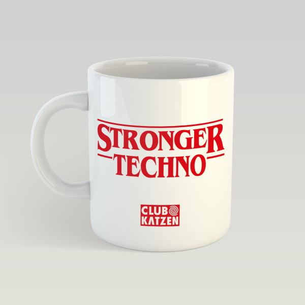 Stronger Techno - Weiße Tasse