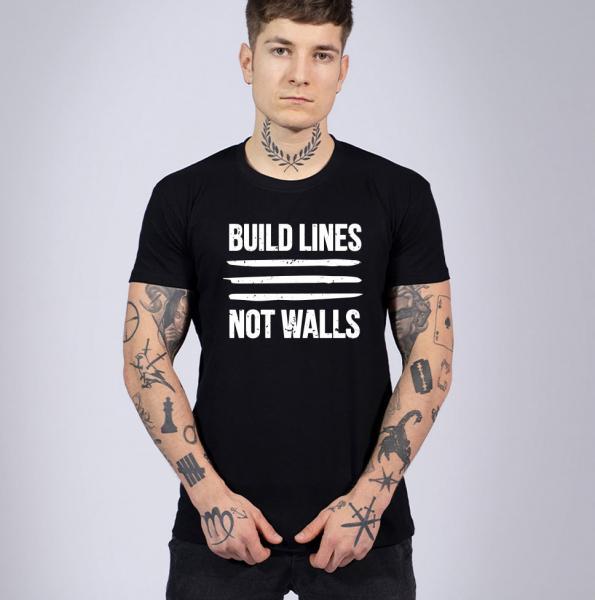 Build Lines Herren T-Shirt mit Rundhalsausschnitt