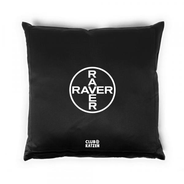 Raver - Kissen schwarz