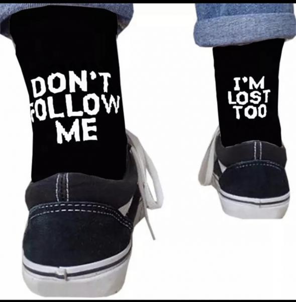 """2 Paar """"Don't follow me. I'm lost too"""" - Raver Socken, Strümpfe"""