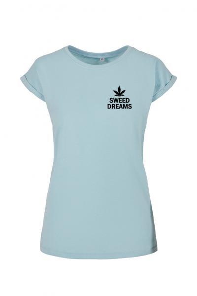 Sweed Dreams - Damen T-Shirt mit überschnittene Schulter