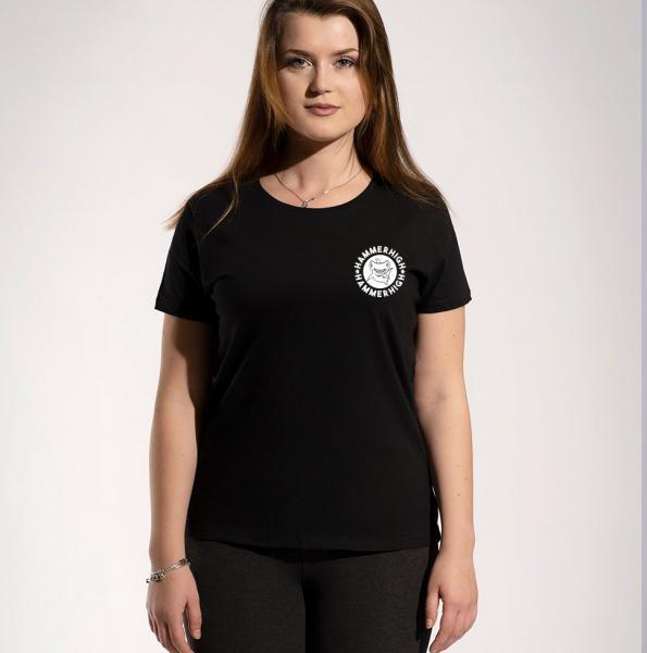 Hammerhigh Girls Rundhals T-Shirt Black