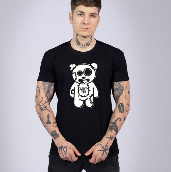Stofftier Herren T-Shirt mit Rundhalsausschnitt