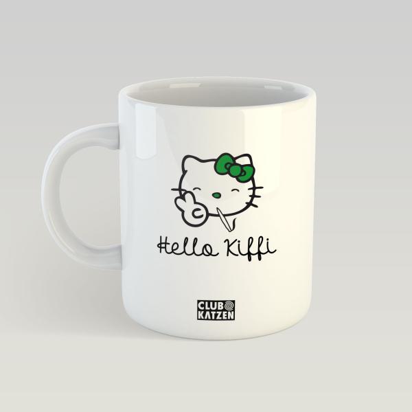Hello Kiffi - Weiße Tasse