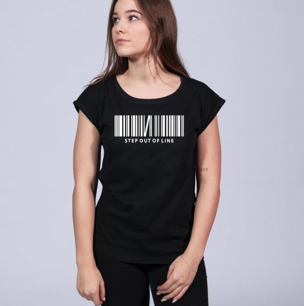Step out - Damen T-Shirt mit überschnittene Schulter