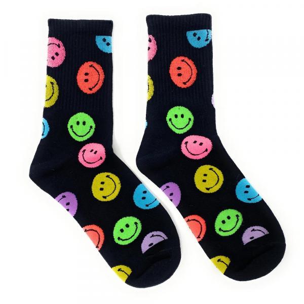 2 Paar Acid Smiley Socken, Strümpfe