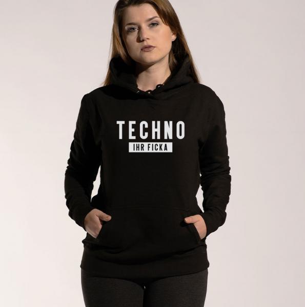 Techno Ficka - Damen Hoodie mit Kapuze