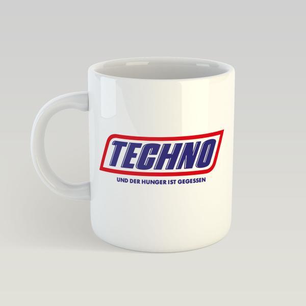 Techno Hunger - Weiße Tasse