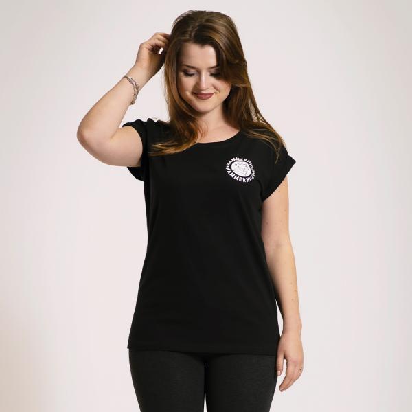 Hammerhigh Girls Shoulder Shirt Black