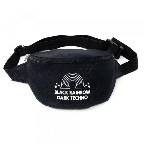 Black Rainbow Dark Techno Bauchtasche