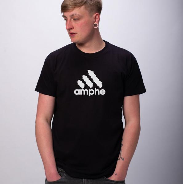 Amphe Herren T-Shirt mit Rundhalsausschnitt