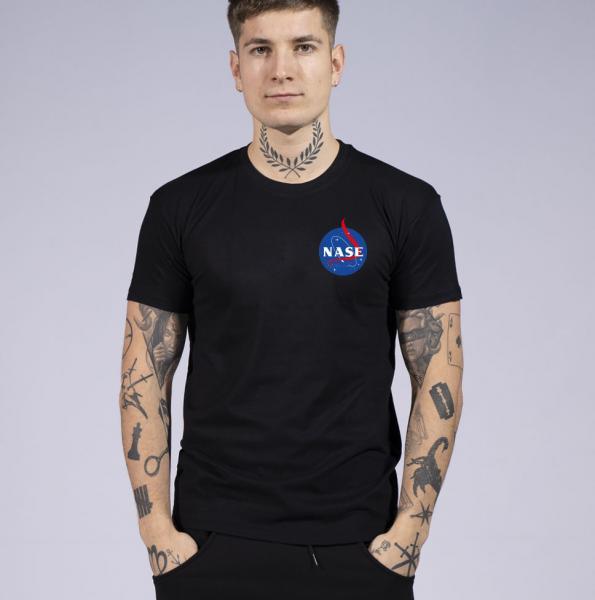 Nase Herren T-Shirt mit Rundhalsausschnitt