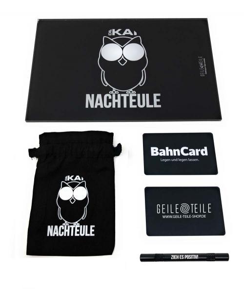 Nachteule Sparset - Acrylplatte, Säckchen, Röhrchen, Karten