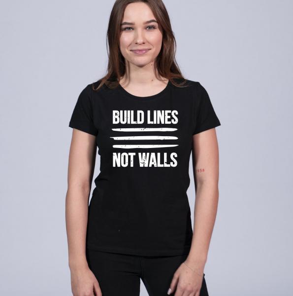 Build Lines Damen T-Shirt mit Rundhalsschnitt